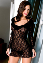 Lace babydoll by Music Legs ML-6302